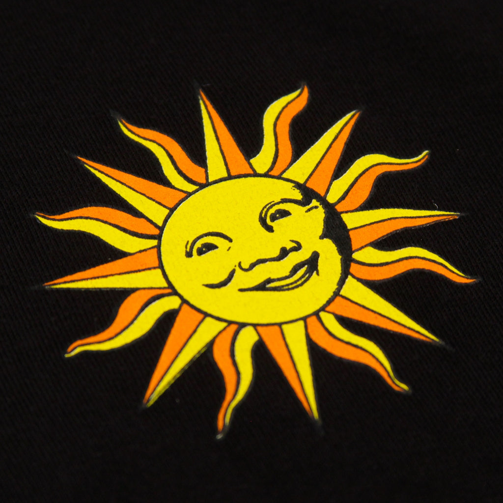 Stussy Int. Sun T Shirt in Black - Front Print