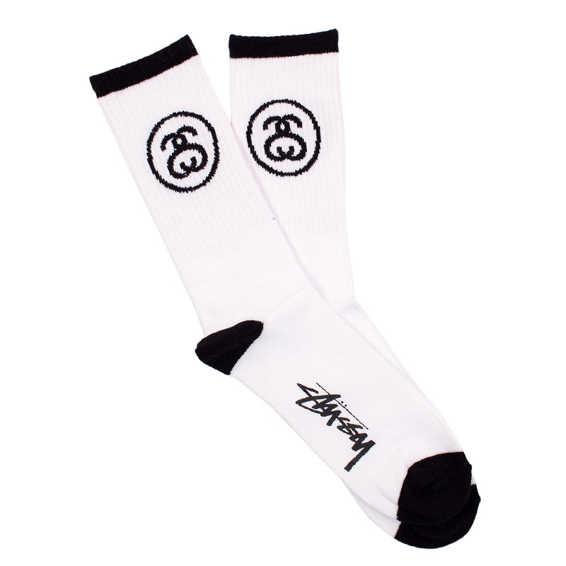 Stussy SS Link Socks in White