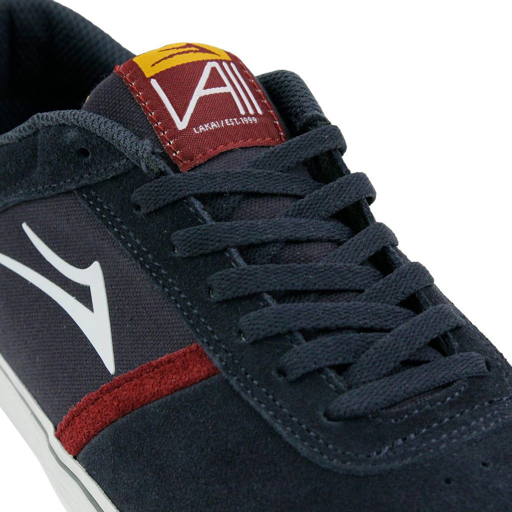 Lakai Vincent Shoes in Midnight Suede - Laces