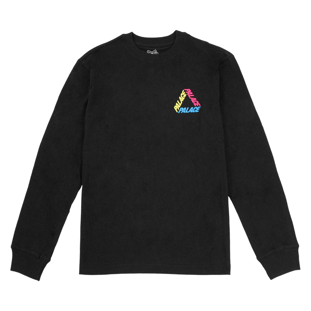 Palace P 3 L/S T Shirt in Black / Multi - Front