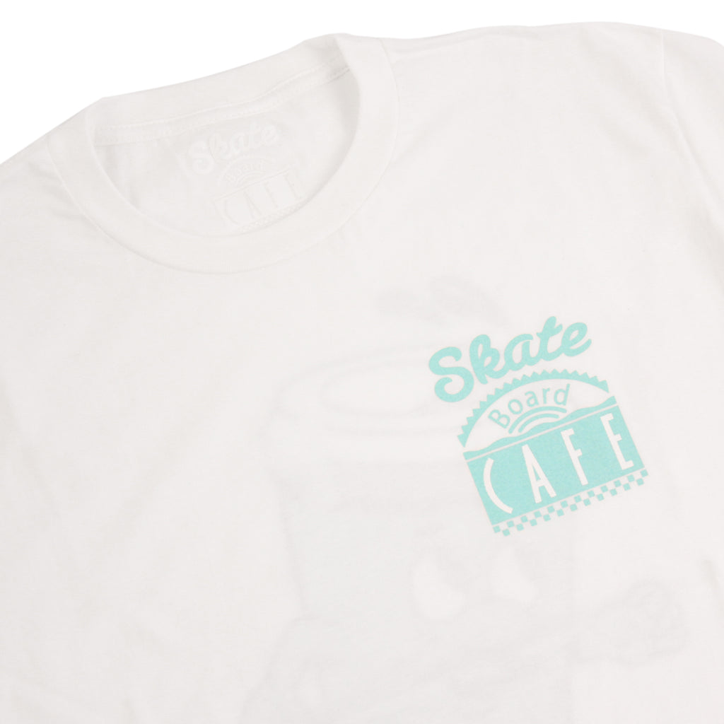 Skateboard Cafe Lil Cuppy T Shirt in White