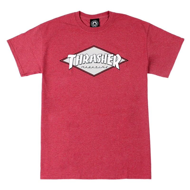 Thrasher OG Diamond Logo T Shirt in Cardinal Heather