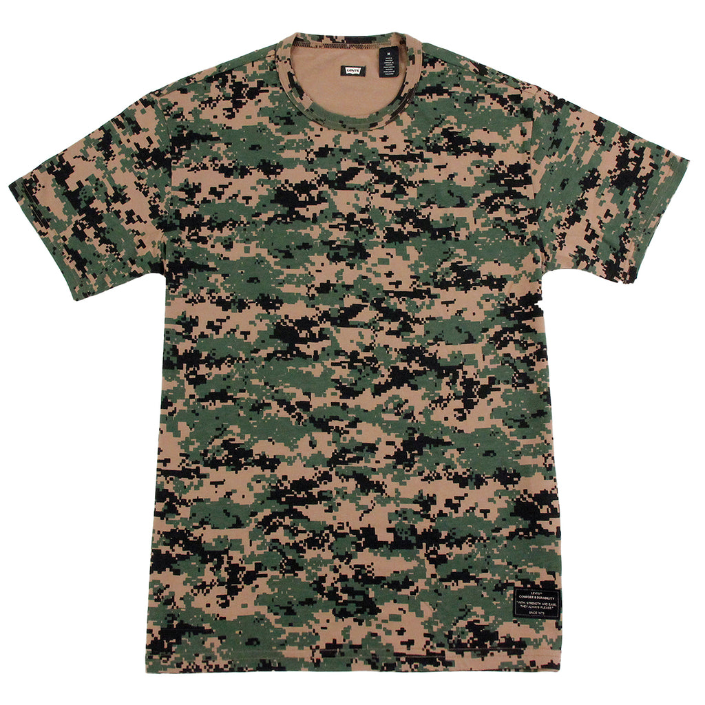 Levis Skateboarding 2 Pack T Shirt in Camo Print / Ivy Green - Camo T Shirt