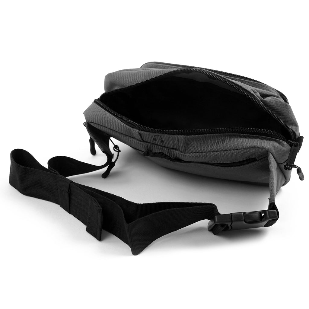14:01 Skateboard Co Badman Bag in Graphite - Open