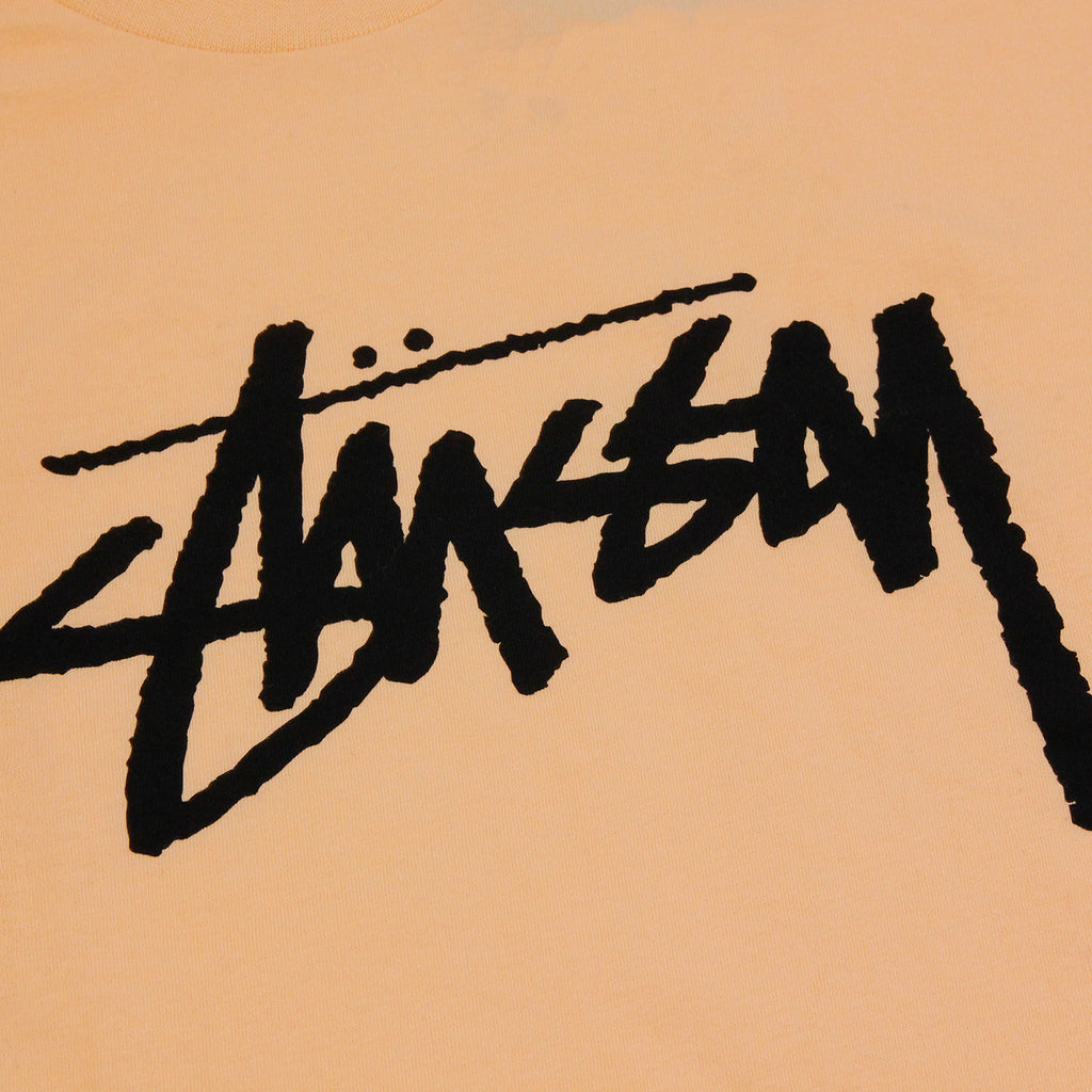 Stussy Stock T Shirt in Peach - Print