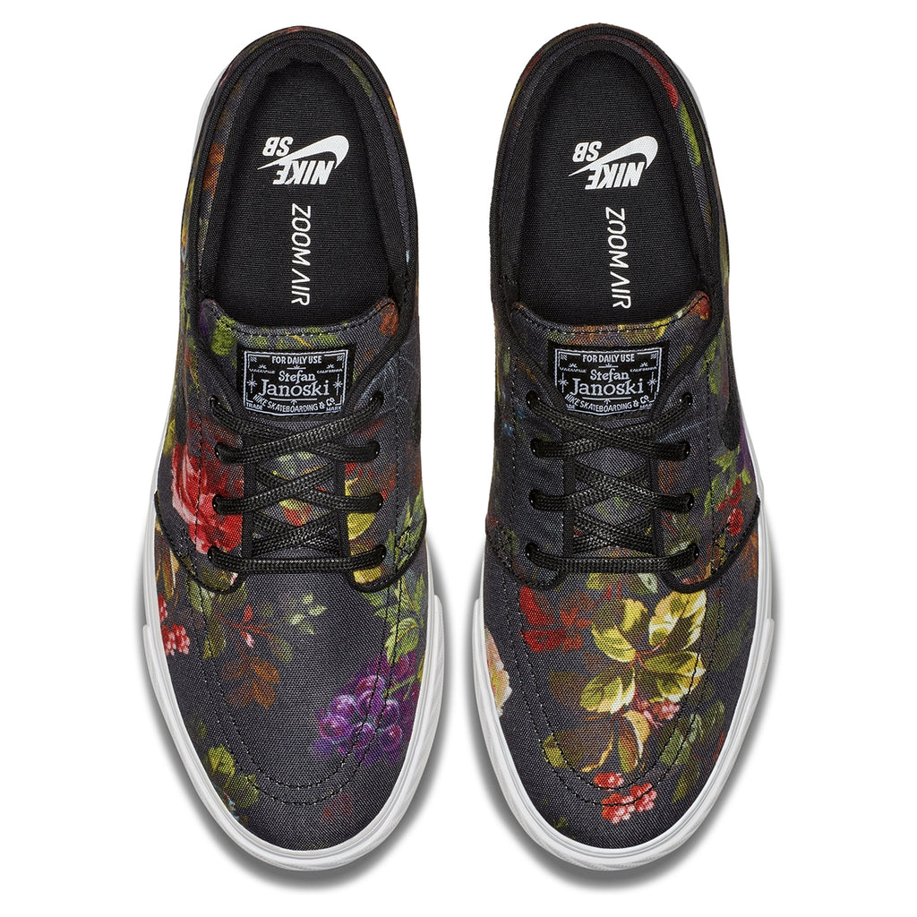 Nike SB Zoom Stefan Janoski Shoes in Multicolour / Black - White - Gum Light Brown - Top