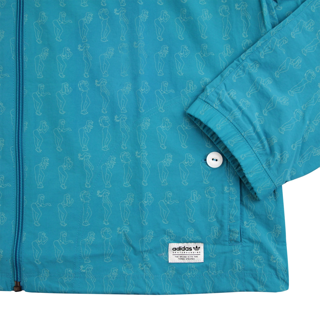 Adidas Skateboarding Robin Clare Jacket in Shock Green - Cuff