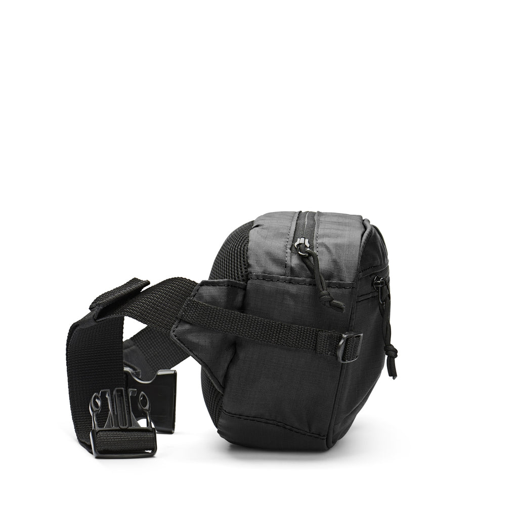 Polar Skate Co Ripstop Hip Bag in Black - Side