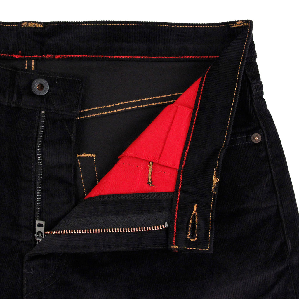 Levis Skateboarding 504 Straight Jeans in Black Cord - Unzipped