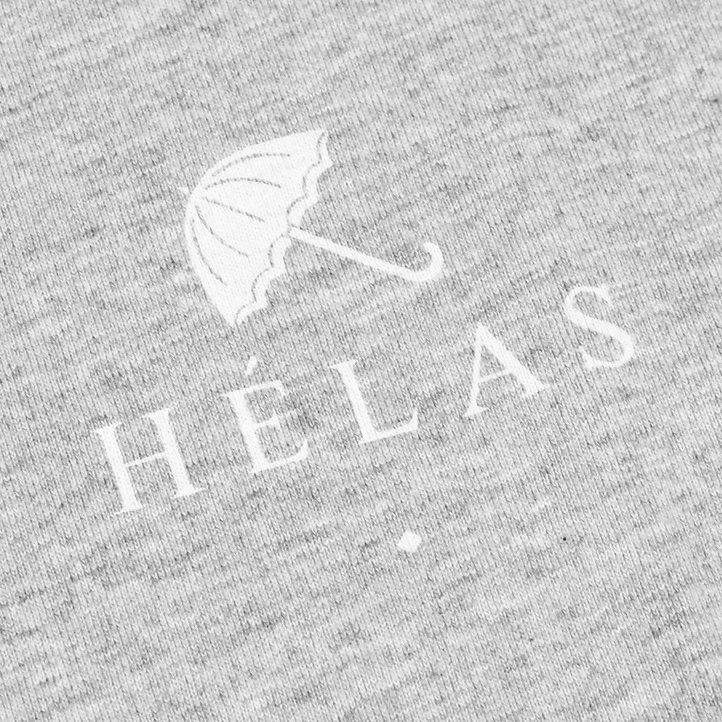 Helas Umbrella T Shirt in Heather Grey / Navy / Red - Print