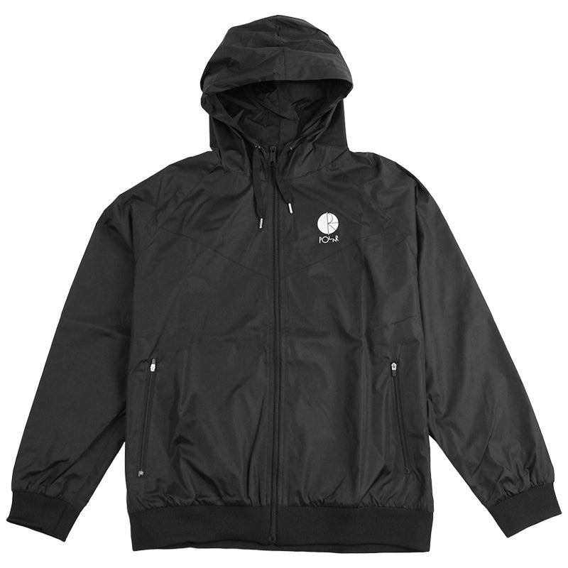 Polar Skate Co Fill Logo Chest Windbreaker Jacket in Black / White