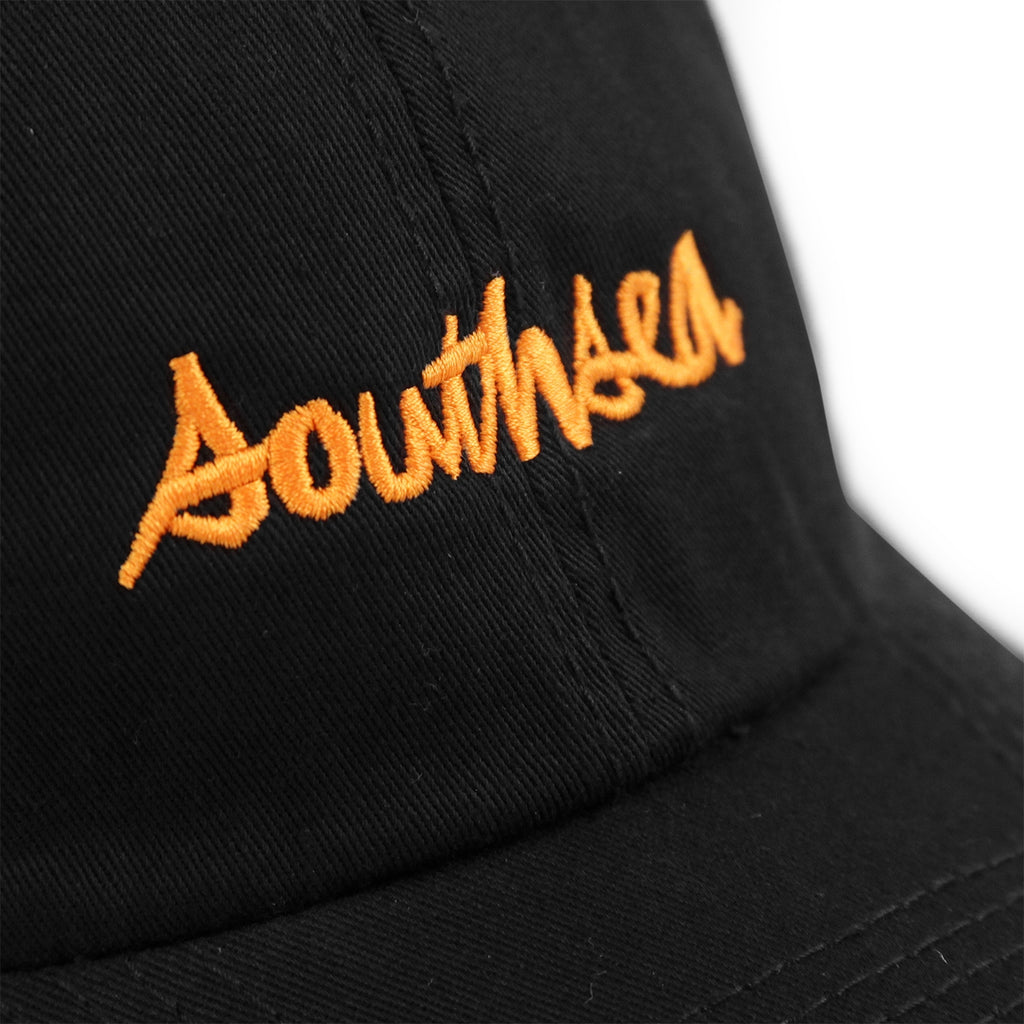 Bored of Southsea x Chocolate Skateboards Chunk The World Dad Cap in Black - Embroidery