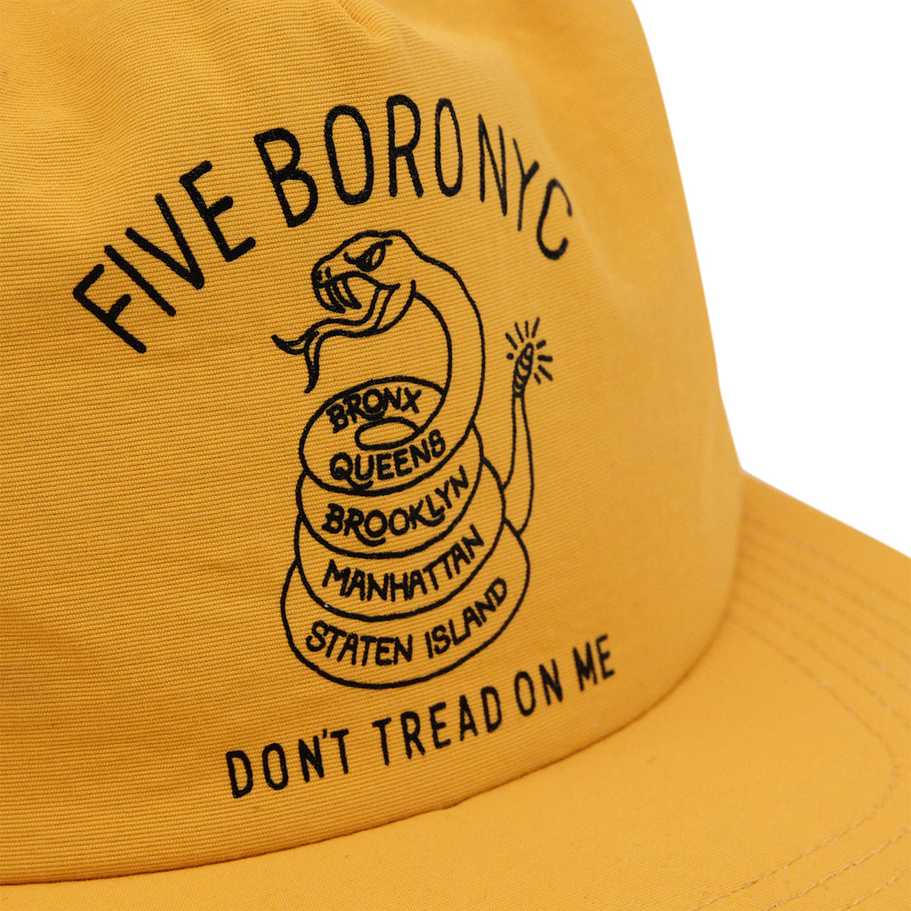 5Boro Don't Tread On Me Snapback Cap in Gold - Print