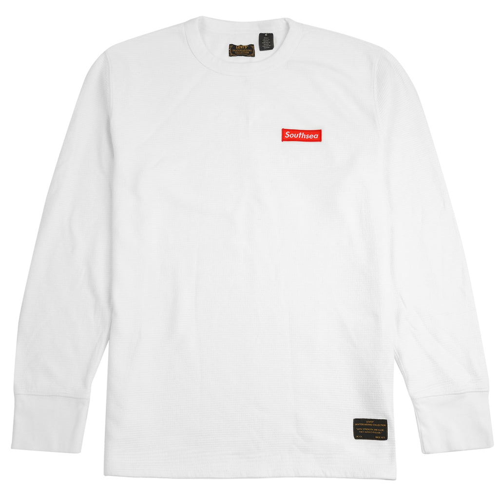 Bored of Southsea x Levis Skateboarding L/S Thermal in White