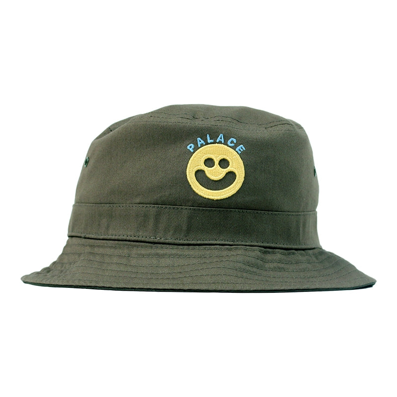 Palace Smiler Bucket Hat in Olive - Front