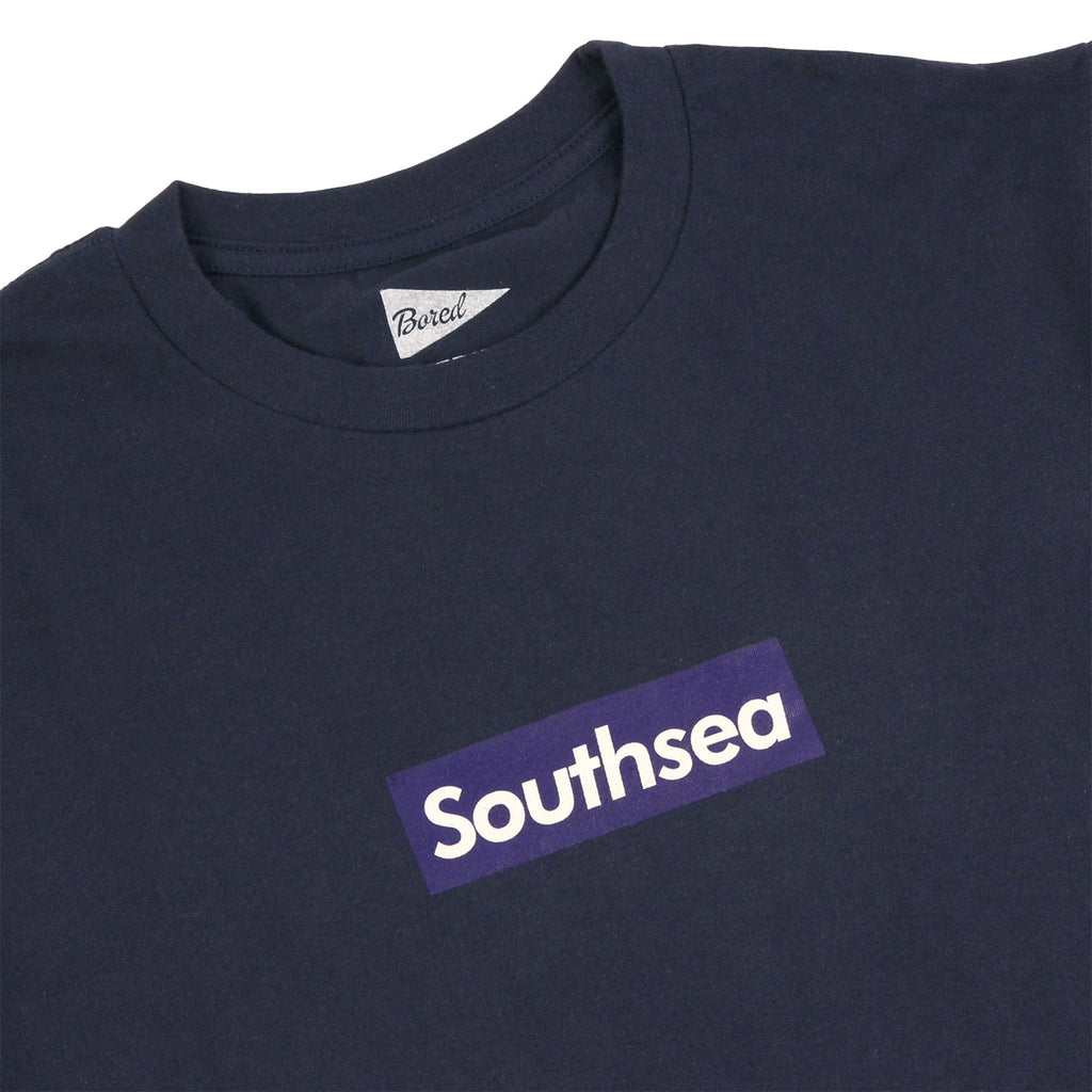 "Bored of Southsea ""Southsea"" T Shirt in Navy / Blue Box - Detail"