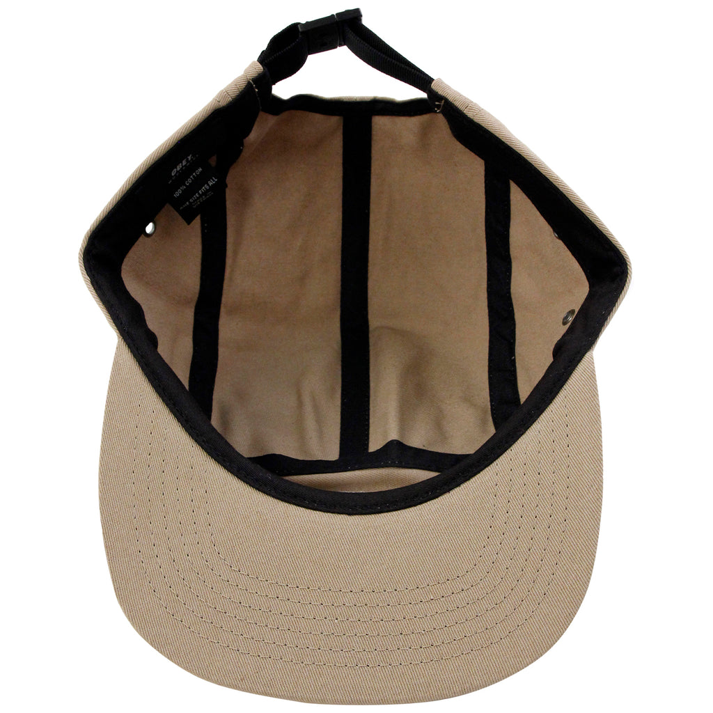Obey Clothing Icon 5 Panel Cap in Khaki - Inside