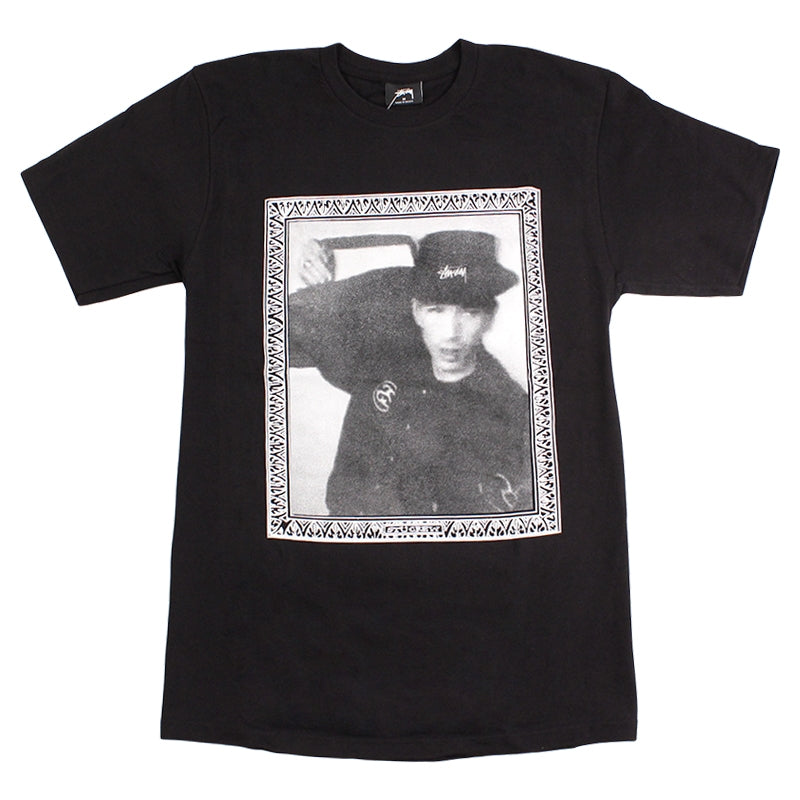 Stussy Hip Hop Frame T Shirt in Black