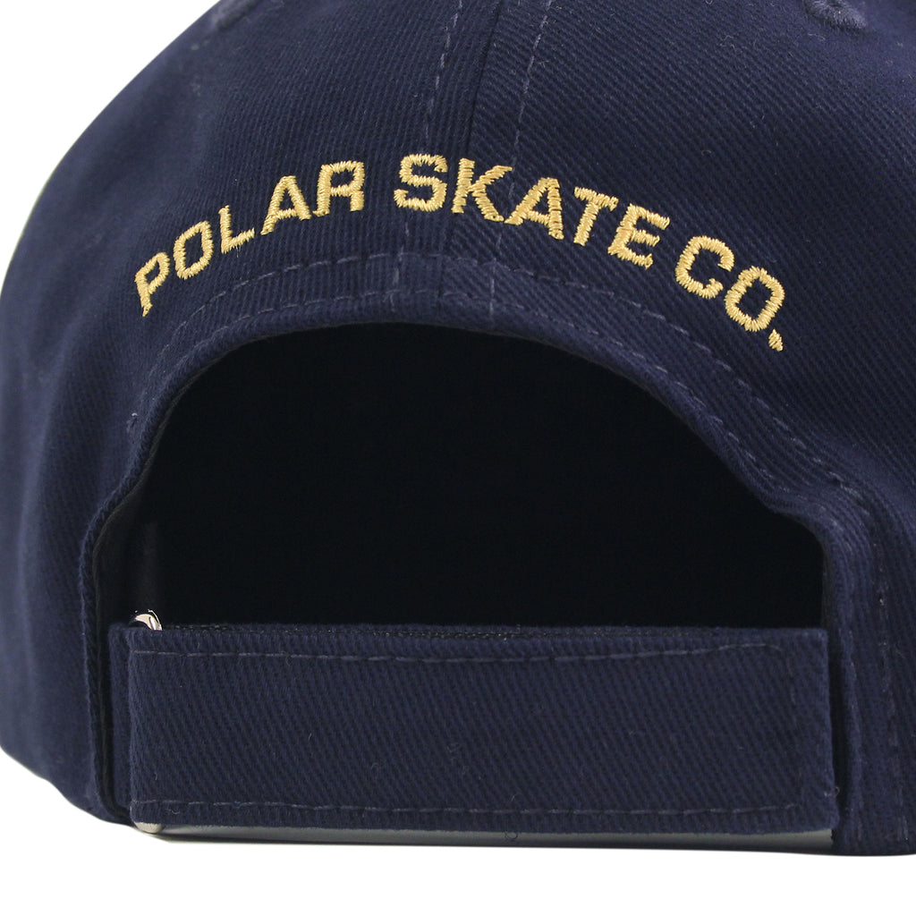 Polar Skate Co No Comply Cap in Navy / Yellow - Back