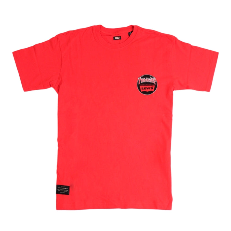 Levi's Skateboarding Collection x Thrasher Skateboard Magazine T Shirt in Mars Red