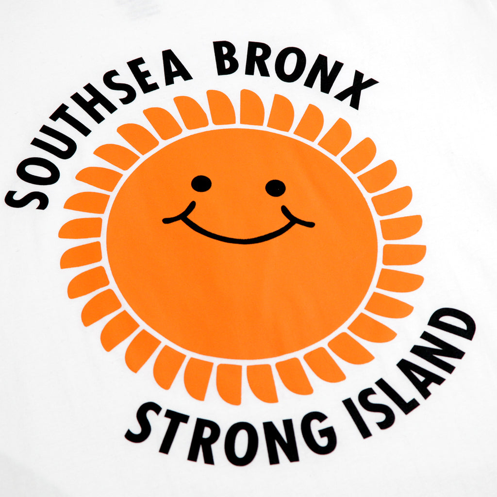 Southsea Bronx Strong Island T Shirt in White - Print