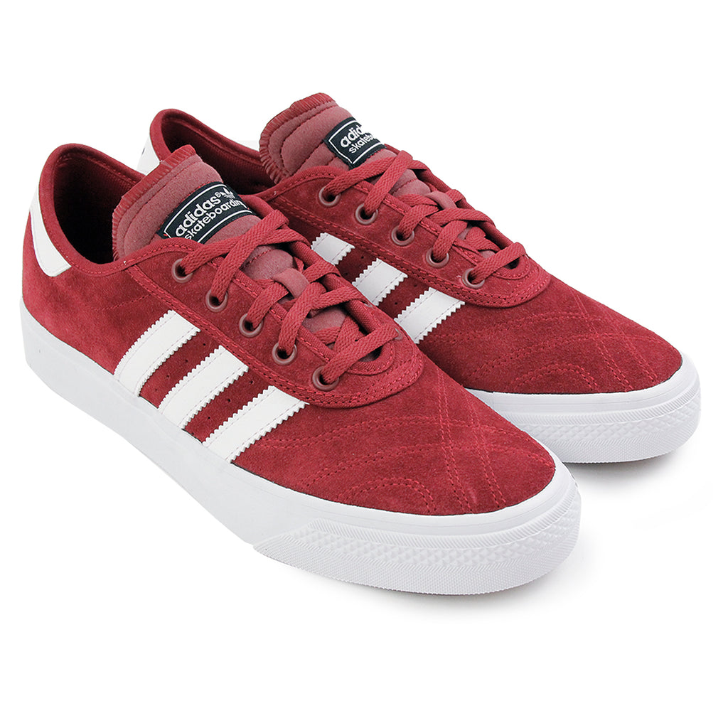 Adidas Skateboarding Adi Ease Premiere Shoes - Collegiate Burgundy / White / Core Black - Pair
