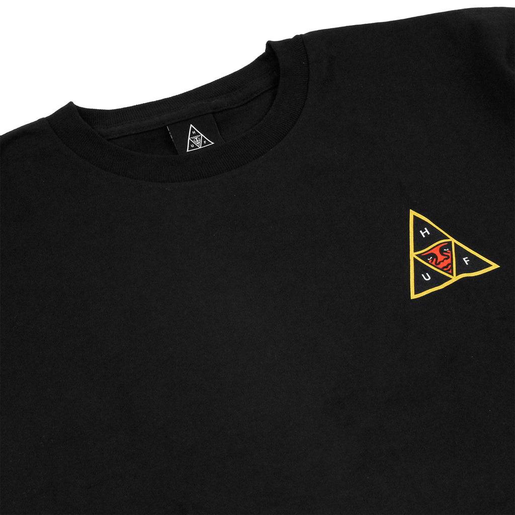 HUF x Obey Icon Face T Shirt in Black - Detail