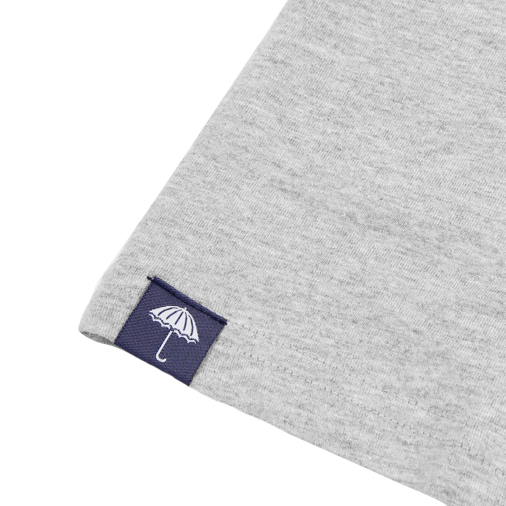 Helas Umbrella T Shirt in Heather Grey / Navy / Red - Label