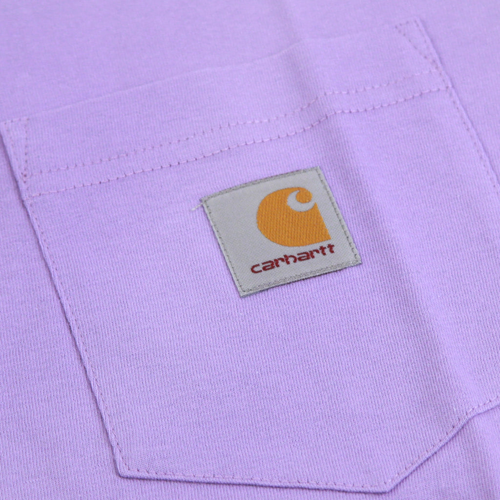 Carhartt Pocket T Shirt in Soft Purple - Pocket