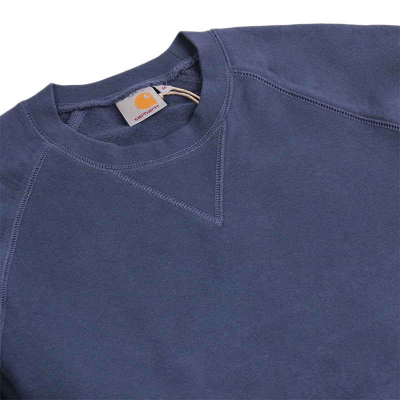 Carhartt WIP Chase Sweat in Blue Penny - Detail