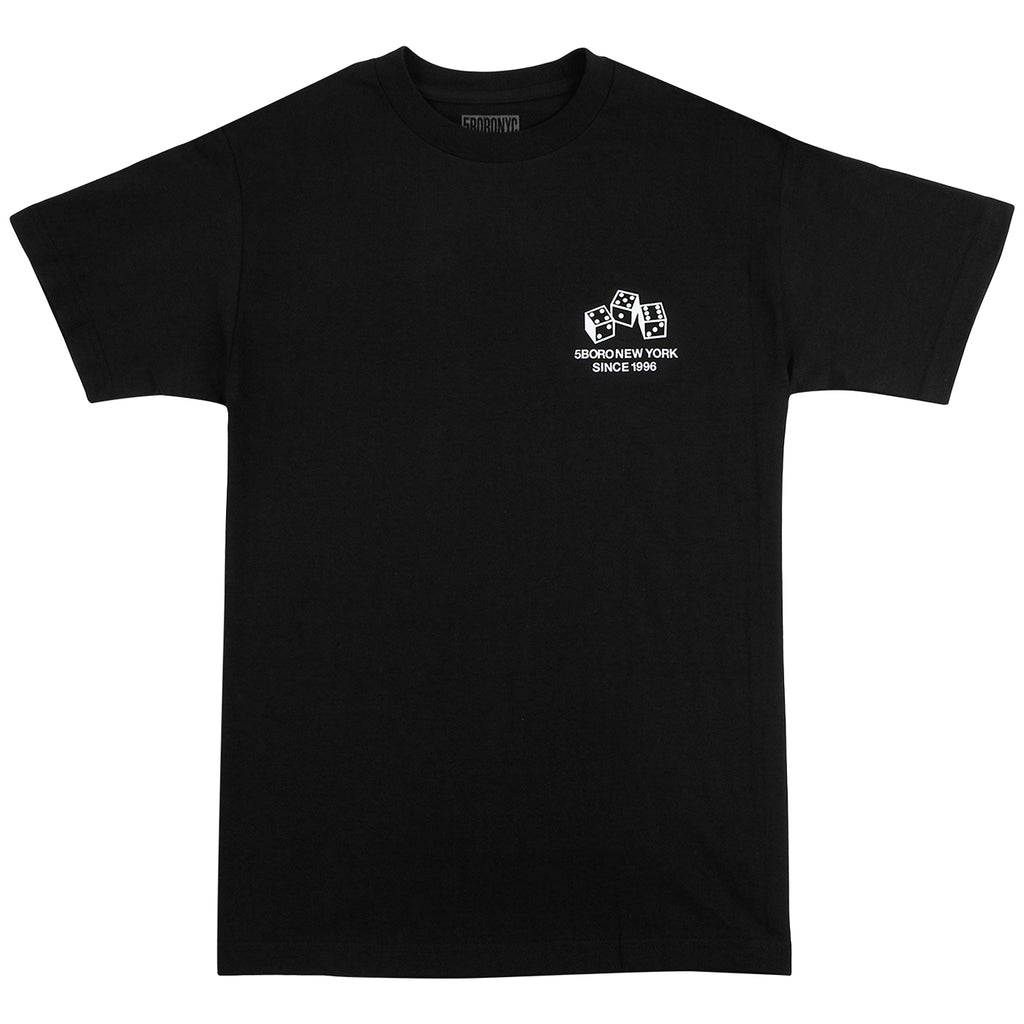 5Boro 4-5-6 Dice T Shirt in Black - Front