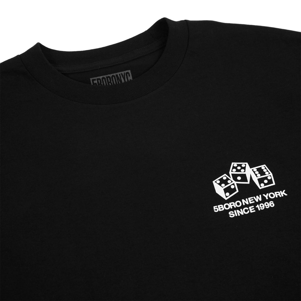5Boro 4-5-6 Dice T Shirt in Black - Detail