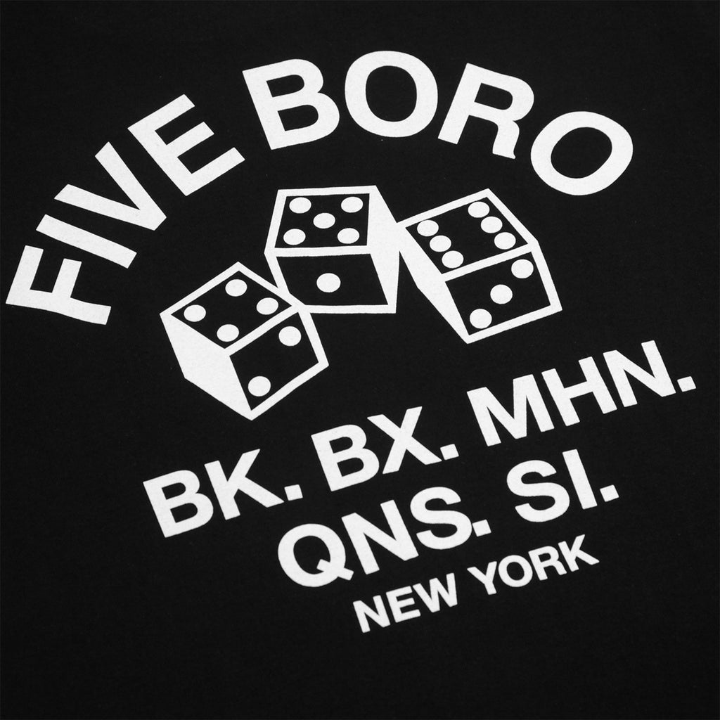 5Boro 4-5-6 Dice T Shirt in Black - Back Print