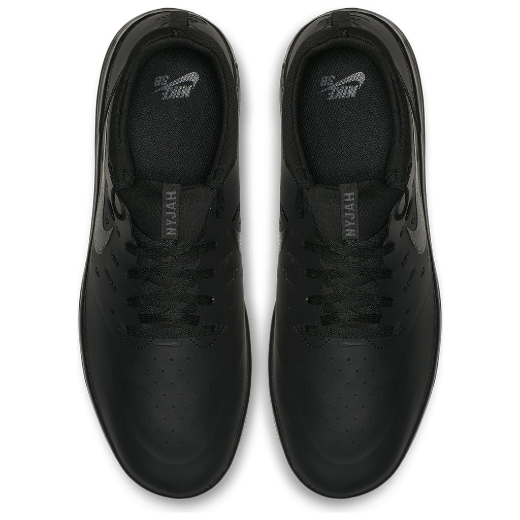 Nike SB Nyjah Free Shoes in Black / Black - Black - Top