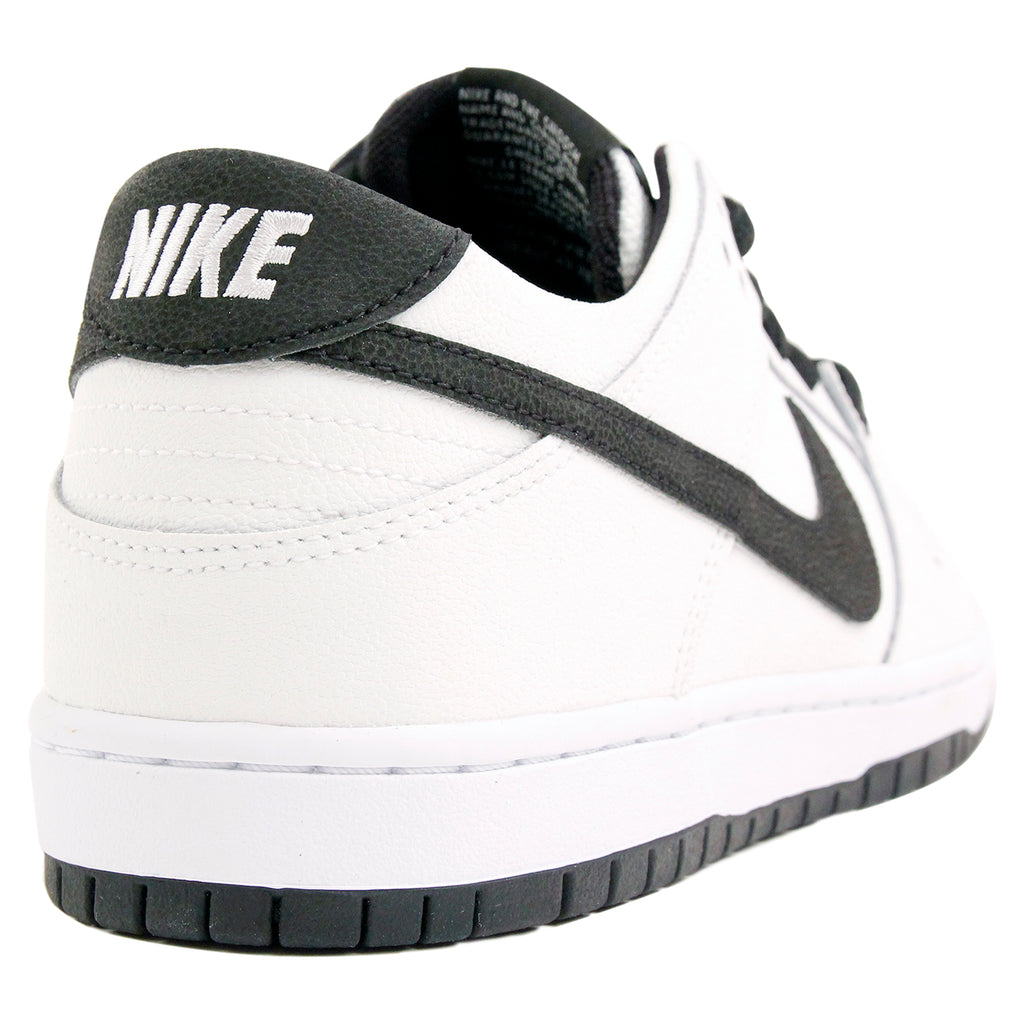 Nike SB Dunk Low Pro Ishod Wair Shoes in White / Black - White - Heel