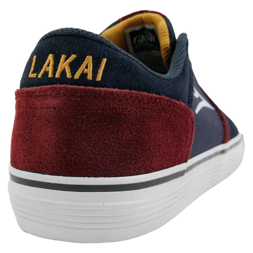 Lakai Vincent Shoes in Midnight Suede - Heel