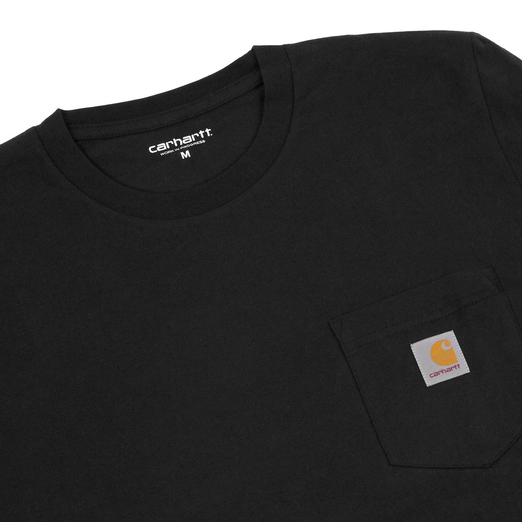 Carhartt Pocket L/S T Shirt in Black - Detail