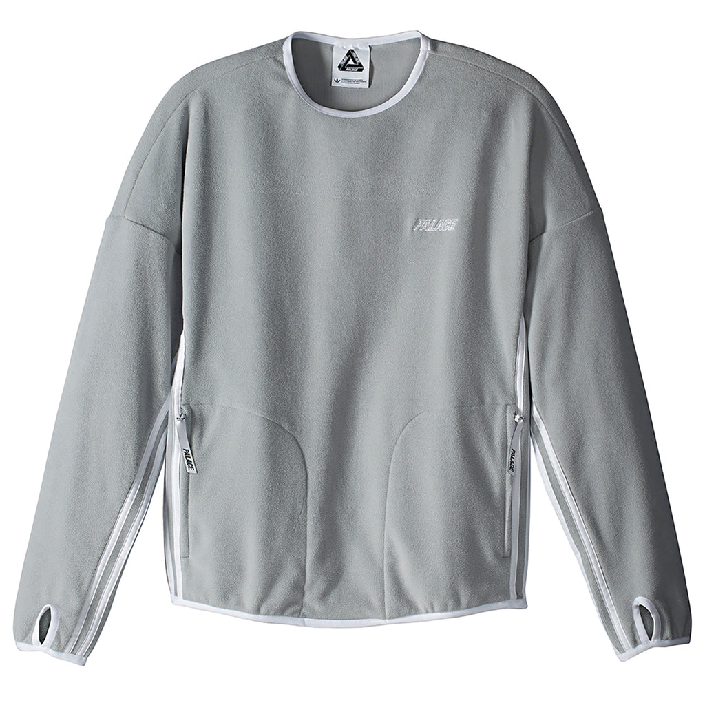 Palace x Adidas Fleece Crew Neck Sweatshirt in Stone
