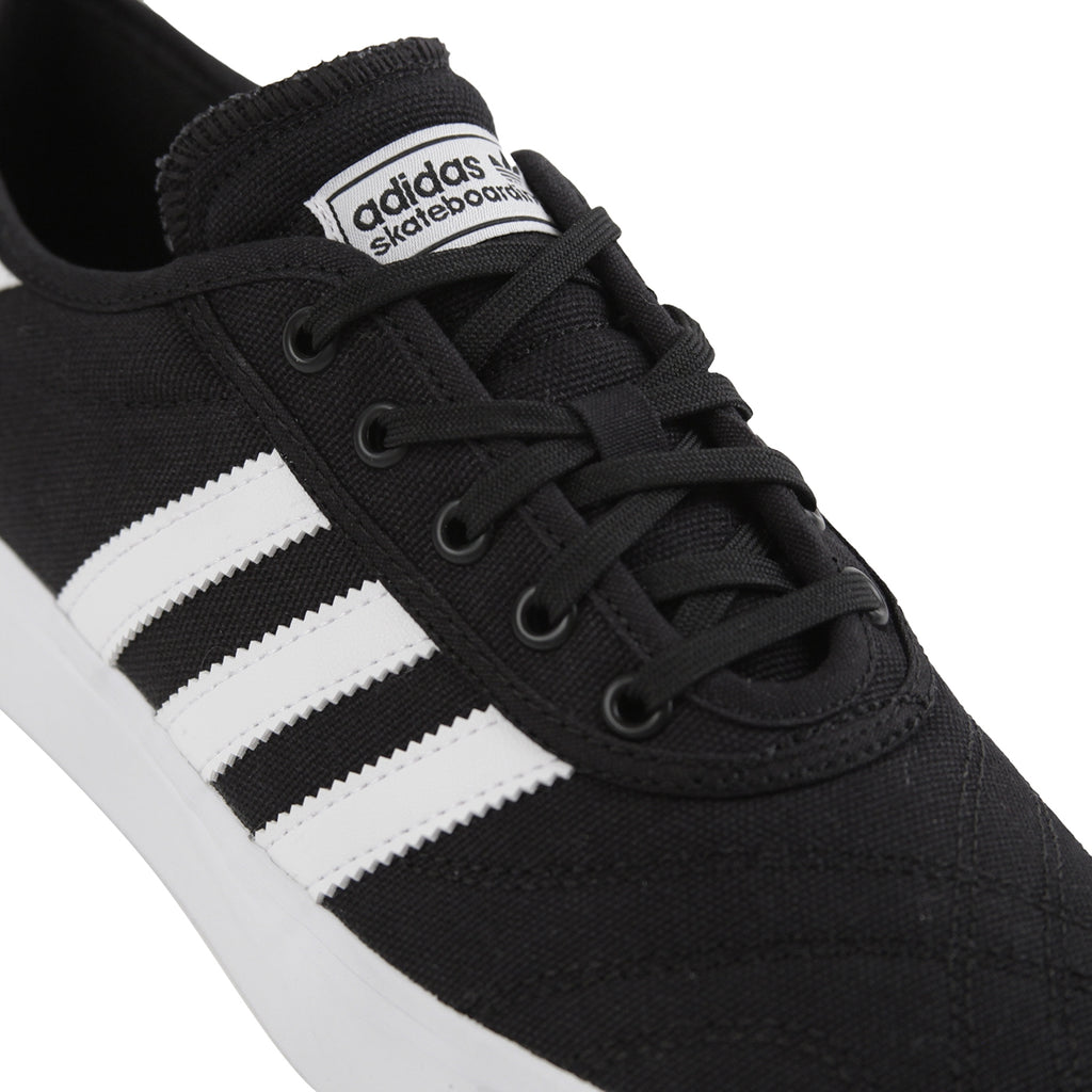 Adidas Skateboarding Adi Ease Premiere Canvas Shoes in Core Black / Footwear White / Gum - Detail