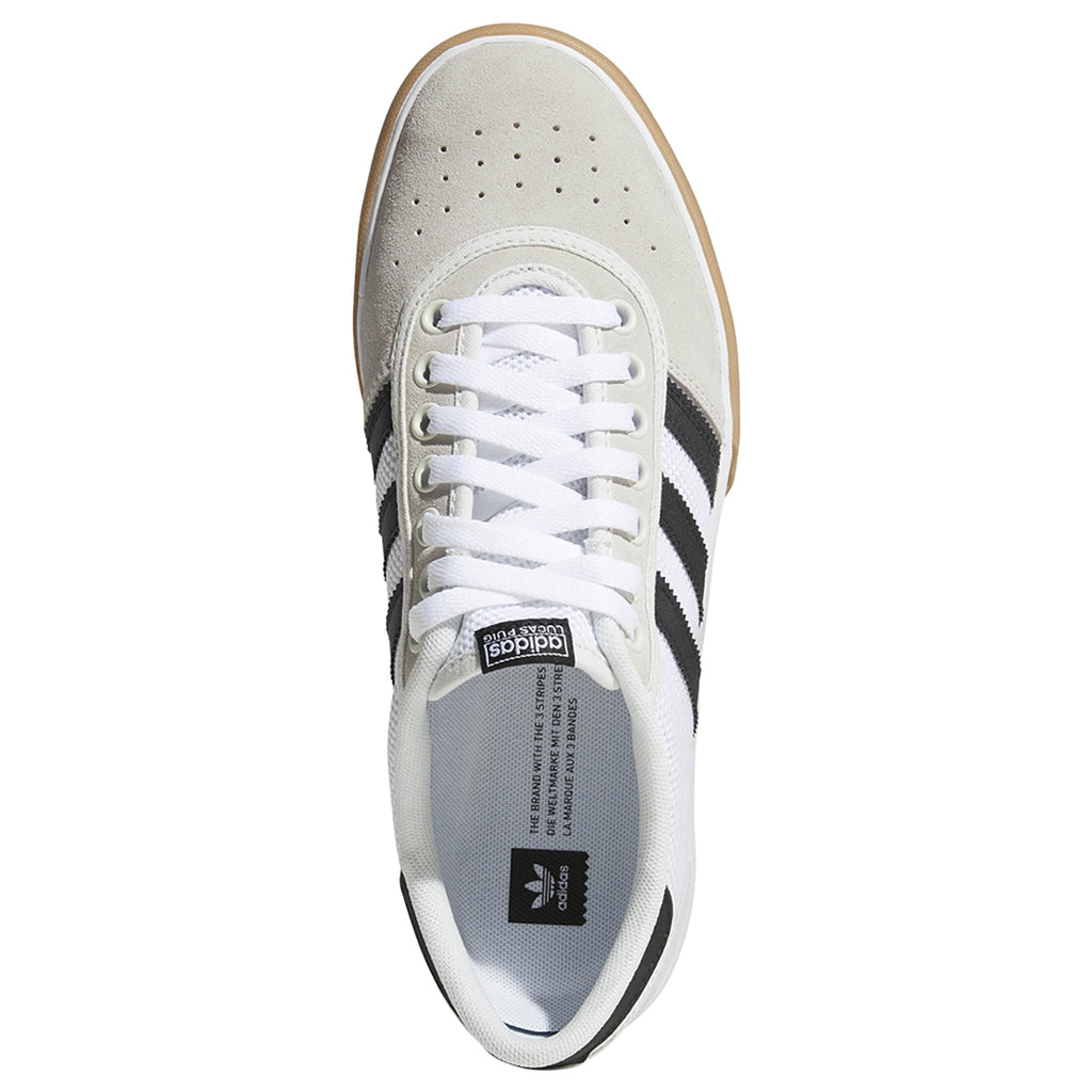 Adidas Lucas Premiere Shoes in Crystal White / Core Black / Gum4 - Bridseye