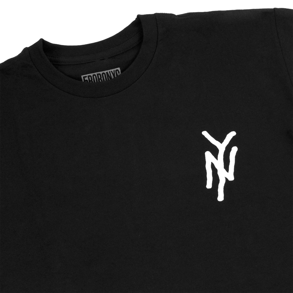 5Boro NY Monogram T Shirt in Black - Detail