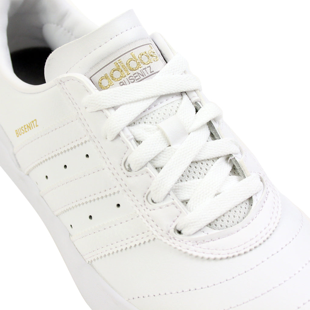 best website e6744 ed60e Adidas Skateboarding Busenitz Vulc Leather Shoes in White  White  White -  Detail