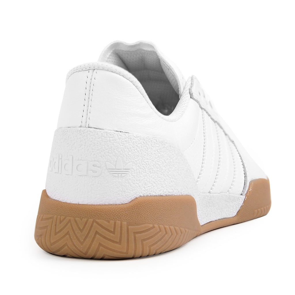 Adidas City Cup Shoes in White / White / Gum - Heel