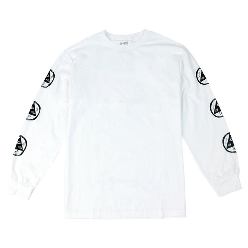 Welcome Skateboards Talisman L/S T Shirt in White
