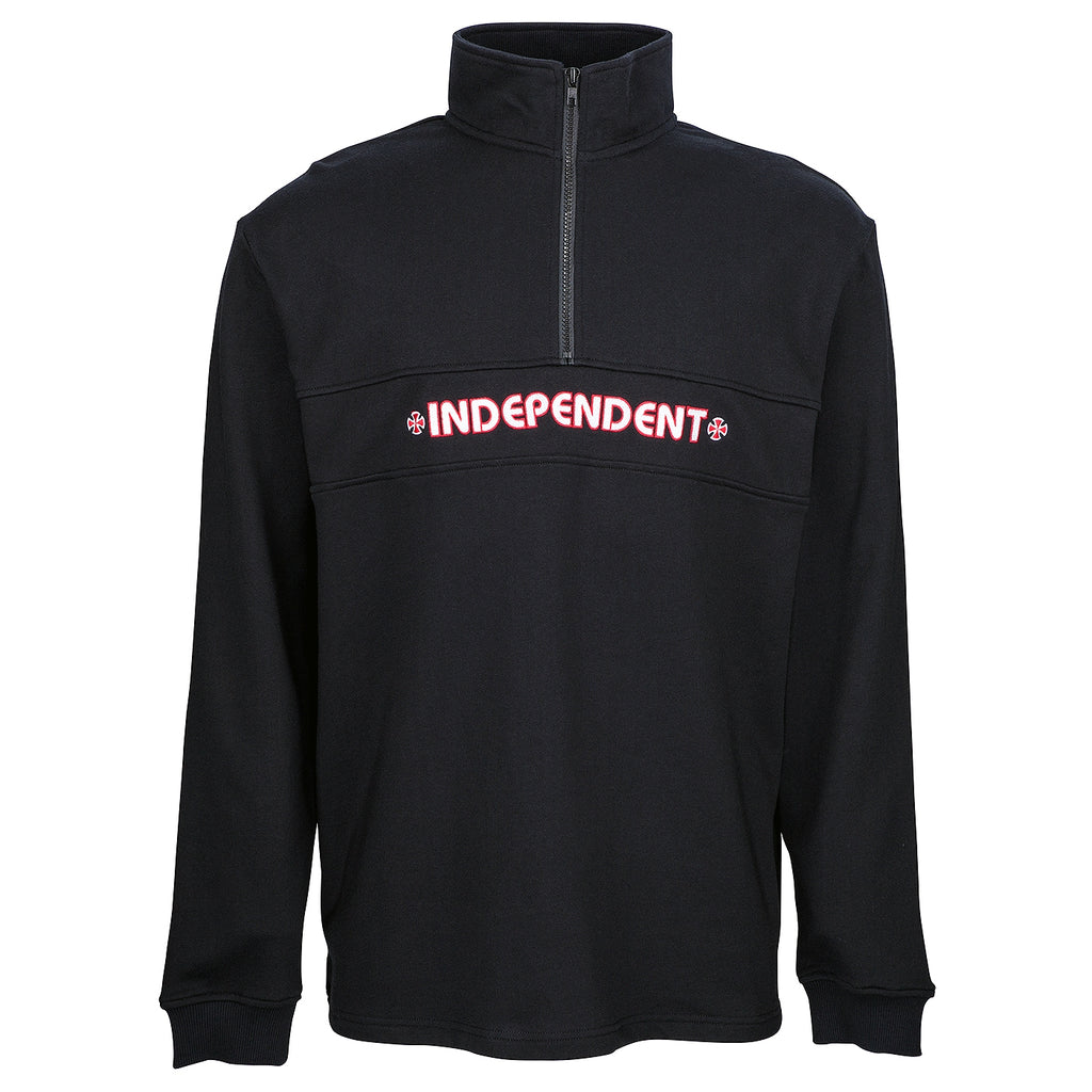 Independent Trucks Crew Bar 1/4 Zip Sweatshirt in Black