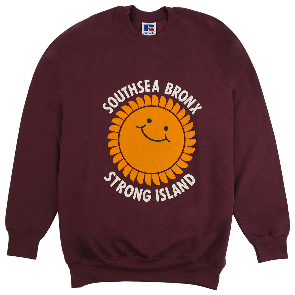 Southsea Bronx Strong Island Sweatshirt in Burgundy