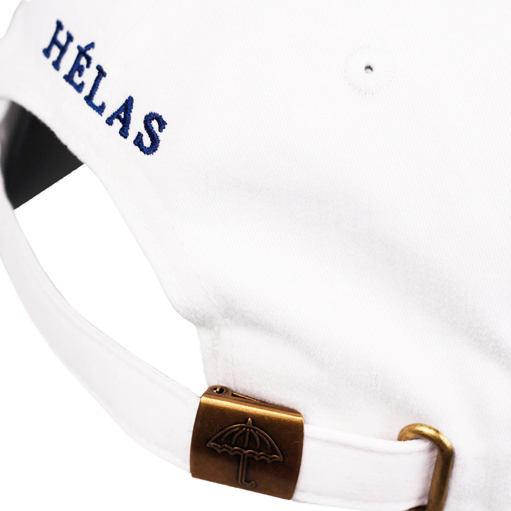 Helas Classic 6 Panel Cap in White / Navy - Back