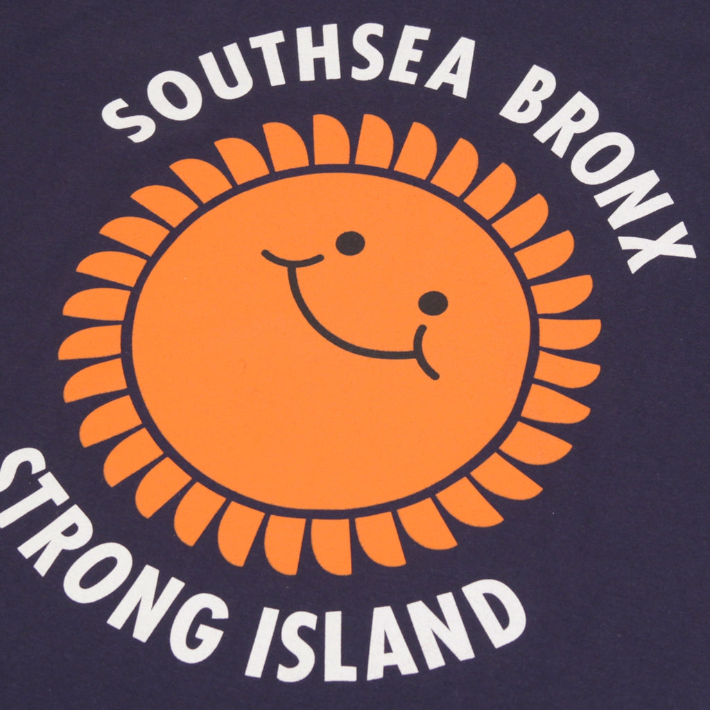 Southsea Bronx Strong Island T Shirt in Navy - Print