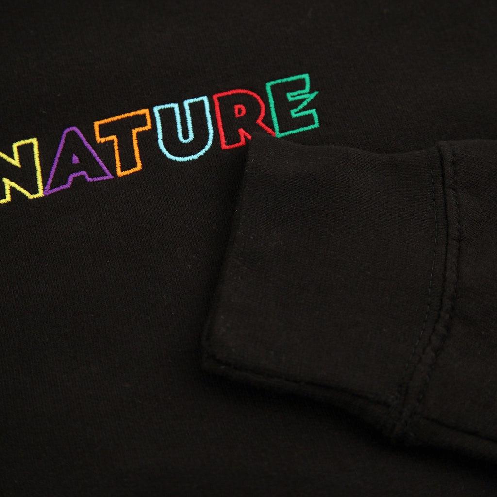 Signature Clothing Outline Logo Embroidered Sweatshirt in Black / Multi