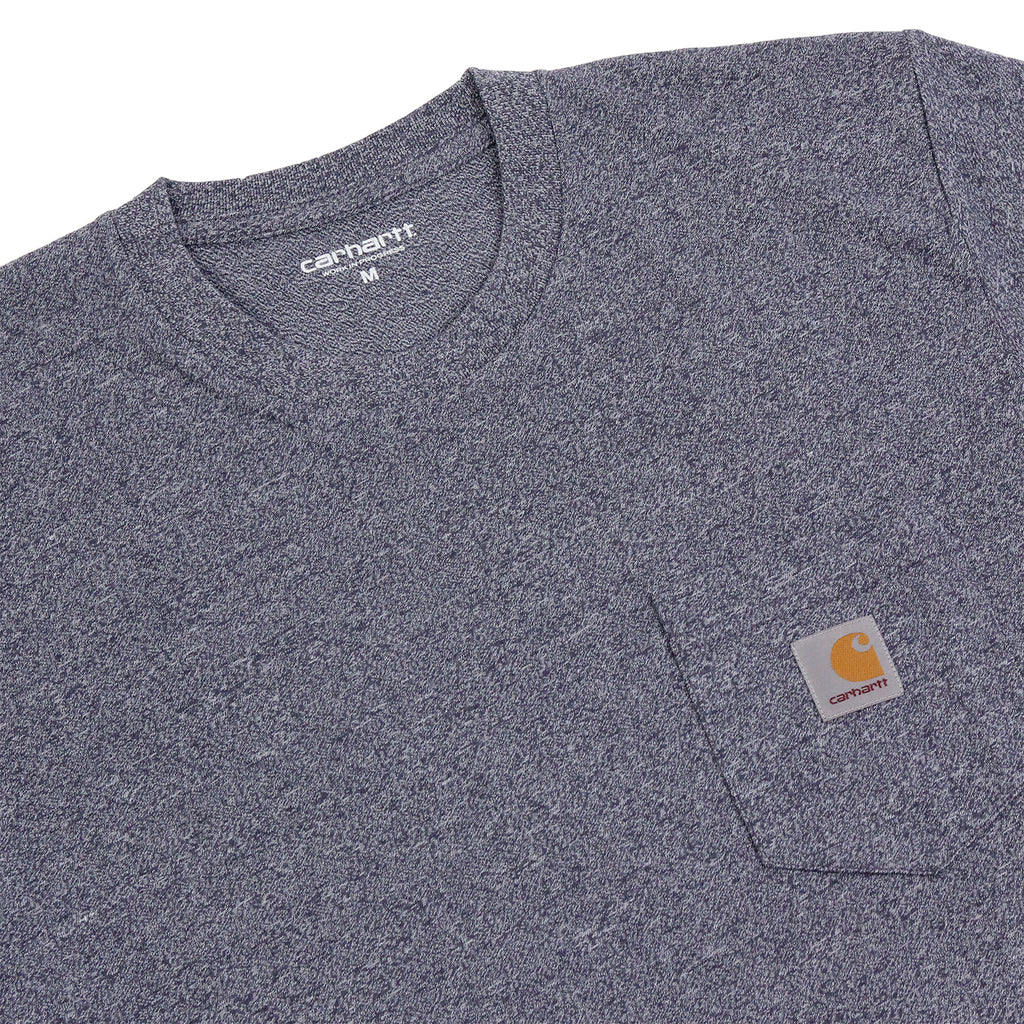 Carhartt WIP Pocket T Shirt in Blue Noise Heather - Detail